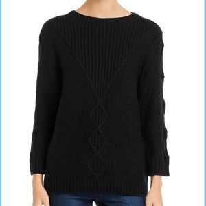 Karl Lagerfeld cable knit crew neck sweater small